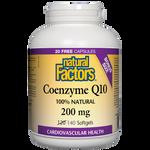 Natural Factors Coenzyme Q10 200mg Softgels 120+20 Bonus Softgels | 068958082080