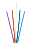 Colibri Reusable Silicone Straws and Cleaning Brush   828306001138