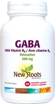 New Roots Herbal GABA 600mg with Vitamin B6 Relaxation 60 Vegetable Capsules | 628747121361