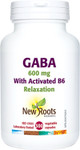New Roots Herbal GABA 600mg with Vitamin B6 Relaxation 300 Vegetable Capsules | 628747125437