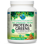 Natural Factors Whole Earth and Sea Fermented Organic Protein and Greens Vanilla Chai 656 grams |  068958355405