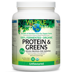 Natural Factors Whole Earth and Sea Fermented Organic Protein and Greens Unflavoured 640 grams |  068958355412