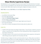 Organika Organic Maca+ Cacao 200g - Recipe | 620365018368