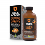 Brain Armor Adult Super Omega-3+ Vegan Liquid Concentrate Natural Lime Mango Flavor