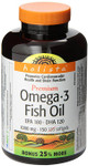 Holista Premium Omega 3 Fish Oil - EPA 180 / DHA 120 1000mg 150 bonus softgels | 620554005285