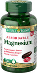 Nature's Bounty Absorbable Magnesium 125 Capsules | 029537599481