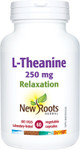 New Roots Herbal L-Theanine 250mg Relaxation 60 Vegetable Capsules | 628747122512