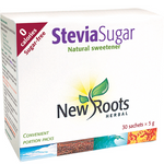 New Roots Herbal Stevia Sugar Spoonable - 30  x 5g sachets   628747016858