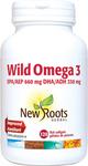 New Roots Herbal Wild Omega 3 EPA 660mg DHA 330mg 120 Fish Softgels | 628747112802