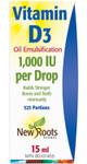 New Roots Herbal Vitamin D3 1000IU per Drop 15mL | 628747214902