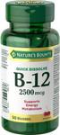 Nature's Bounty Quick Dissolve Vitamin B12 2500 mcg | 029537038607
