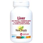 New Roots Herbal Liver Milk Thistle Plus Alpha-Lipoic Acid 180 veg capsules | 628747108591