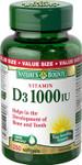 Nature's Bounty Vitamin D3 1000 IU | 029537112758