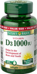 Nature's Bounty Vitamin D3 1000 IU | 029537549943