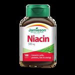 Jamieson Niacin 500 Mg - 100 Caplets | 064642022073