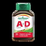 Jamieson Premium Vitamin A 10,000 IU + Vitamin D 800 IU - 100 Softgels  | 064642020130