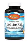 Carlson Norwegian Cod Liver Oil Gems Natural Lemon Flavour 300 softgels