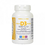 Prairie Naturals Vitamin D3 1000 IU Softgels 180 Softgels | 067953002956