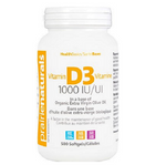 Prairie Naturals Vitamin D3 1000 IU Softgels 500 Softgels | 067953002918