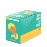 Smart Sweets Peach Rings 12 x 50g -Box | 0669809100559