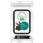 Boo Bamboo Charcoal Cleansing Face Wipes 30 Count | 776629102424
