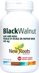 New Roots Herbal Black Walnut Leaf and Hull 440mg 100 Veg Capsules | 628747108416