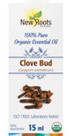 New Roots Herbal Clove Bud 100% Pure Organic Essential Oil 15mL|628747221405