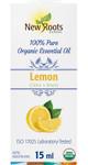 New Roots Herbal 100% Lemon Pure Organic Essential Oil 15mL |628747221481