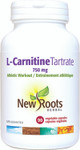 New Roots Herbal L-Carnitine Tartrate 750mg 90 Veg Capsules | 628747117951