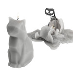 54 Celsius PyroPet Skeleton Candle Kisa (Cat) Grey | 857316000541