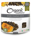 Organic Traditions Pumpkin Seeds, Jumbo | 627733001755