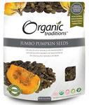 Organic Traditions Pumpkin Seeds, Jumbo | 627733001809