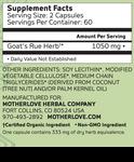 Motherlove Goat's Rue 120 caps | Nutrition | 759160543024