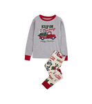 Little Blue House by Hatley Kids Applique Pajama Set Keep on Trucking