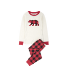 Little Blue House by Hatley Kids Applique Pajama Set Buffalo Plaid