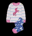 Little Blue House by Hatley Kids Applique Pajama Set Rainbow Unicorns