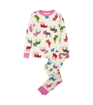 Little Blue House by Hatley Kids Pajama Set Patterned Moose | PJAWIMO165
