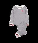 Little Blue House by Hatley Kids Pajama Set Grey Work Sock   PJAWOOL001