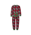 Little Blue House by Hatley Kids Union Suit Holiday Moose on Plaid