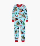 Little Blue House by Hatley Kids Union Suit Wild About Christmas - front
