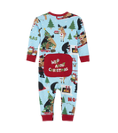 Little Blue House by Hatley Baby Union Suit Wild About Christmas