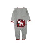 Little Blue House by Hatley Baby Union Suit Canadiana Moose