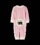 Little Blue House by Hatley Baby Union Suit Pink Bear Bum