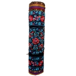Relaxus Hand Embroidered Bokhara Yoga Mat Bags Blue/ Red | REL-709340