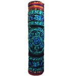 Relaxus Hand Embroidered Bokhara Yoga Mat Bags Blue/Green | REL-709343
