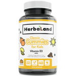 Herbaland Classic Gummy for Kids Vitamin D3 60 Gummies | UPC: 813523000569