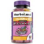Herbaland Gummies For kids Calcium & D3 90 Gummies   UPC: 813523000767