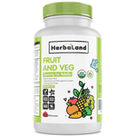 Herbaland Gummy for Adults Organic Fruits, Veg & Fiber 60 Gummies | UPC: 813523000408