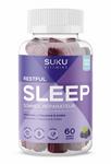 SUKU Vitamins Restful Sleep (Melatonin, L-Theanine & GABA) - Blackberry Hibiscus 60 Gummies | 628176472188