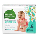 Seventh Generation Free & Clear Baby Diapers - Size Four 27 count   732913440634